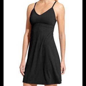 Athleta black cotton halter style dress Small nice